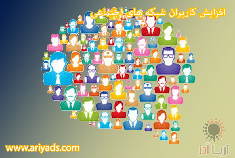 تصویر شماره  افزایش کاربران شبکه های اجتماعی ( بخش اول )