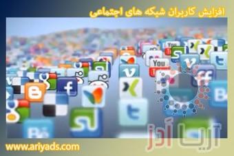 افزایش کاربران شبکه های اجتماعی ( بخش اول )